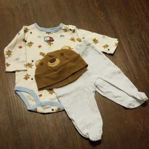 Baby bear bundle outfit